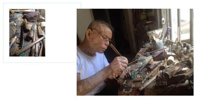 惠安89岁大爷宝刀不老 三十年如一日制作渔网梭