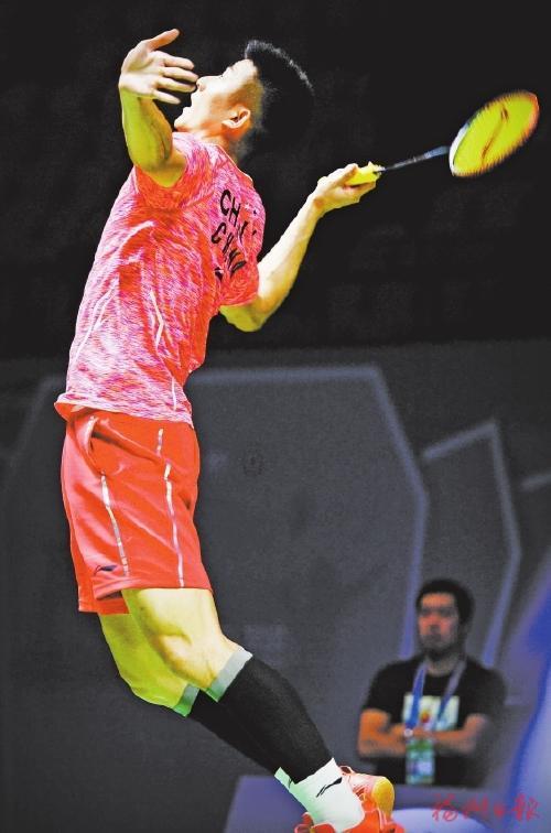 泰禾 2017中国羽毛球公开赛 谌龙顺利晋级