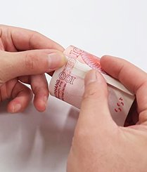 简单对折就能辨别钞票