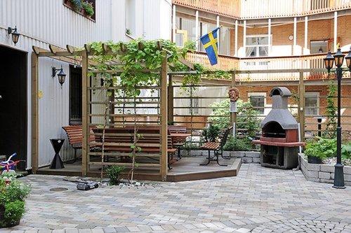 北欧92平米开放式花园庭院三居图片