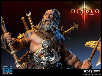 暗黑3野蛮人雕像