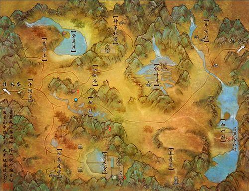 [任务]剑网3扶摇直上NPC分布图——枫华谷