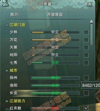 [技巧]剑网3快速冲声望!扬州长安洛阳3城