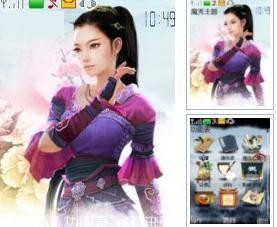 [下载]玩家自制:剑网3手机主题之可爱七秀版