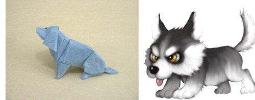 折纸立体动物小猫盒子