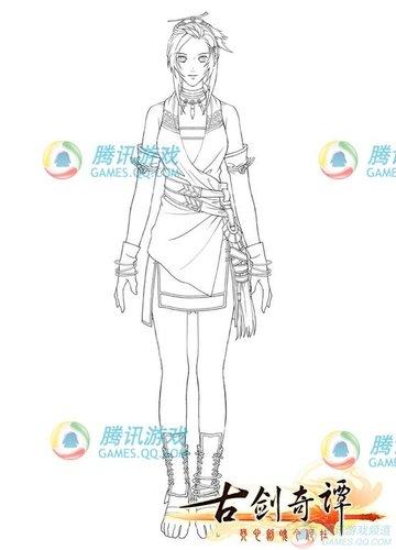 仙剑4团队新作《古剑奇谭》女主角登场(图)