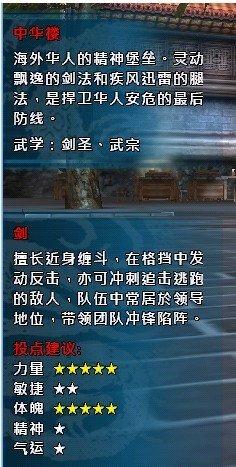 中华英雄职业印象:剑圣练级第一 PK第二