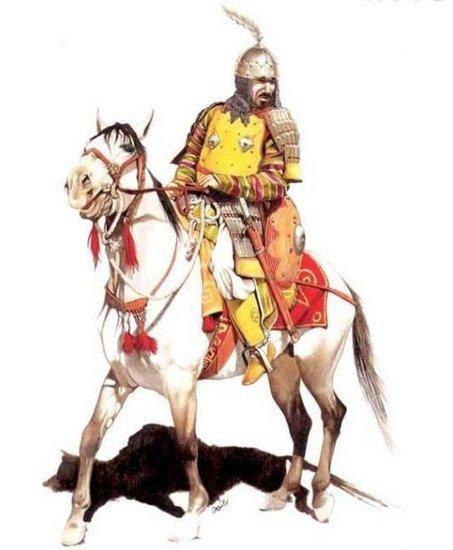 中国古代士兵卡通