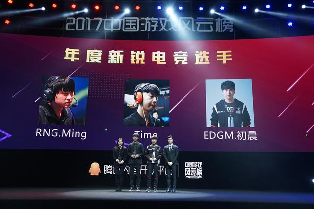 2017中国游戏风云榜:年度新锐电竞选手公布