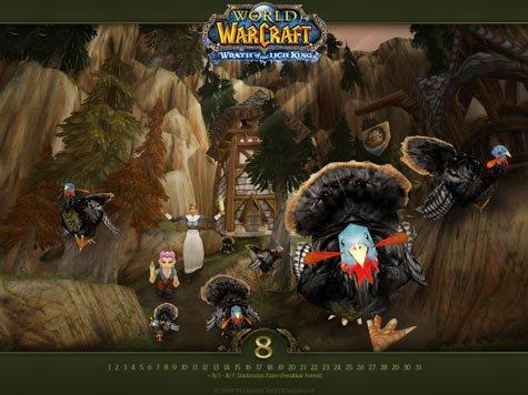 《魔兽世界》推出8月壁纸 展示戏水之乐