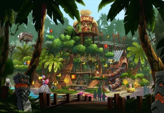 比肩迪士尼?任天堂主题乐园设计概念图曝光