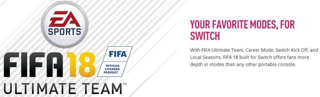 FIFA 18NS版随时随地都可玩 兼具便携性和主机体验