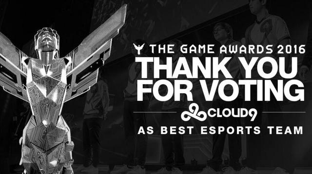 TGA 2016:Cloud9与Coldzera分获最佳电竞团队和个人