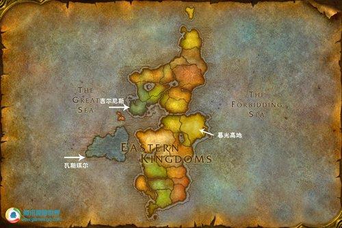 魔兽大灾变:艾泽拉斯大陆地图更新