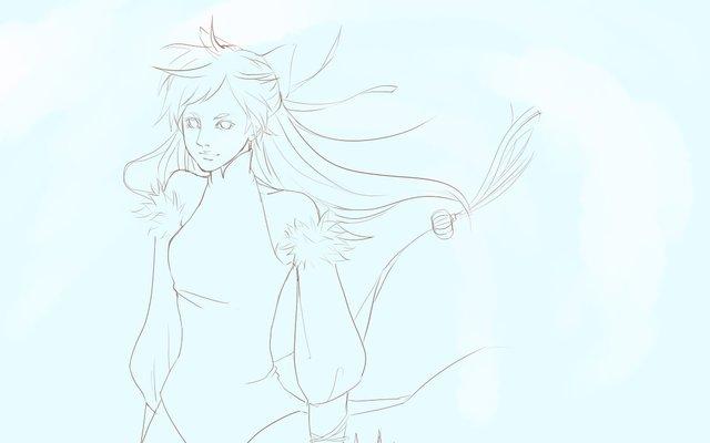 天龙八部游戏玩家手绘作品:春风余雪