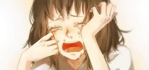 女人哭卡通图片