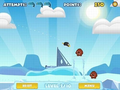 休闲动作游戏《愤怒的企鹅》试玩