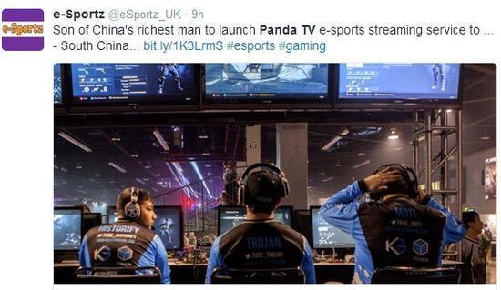 外媒热议王思聪成立熊猫TV:中国首富之子开的