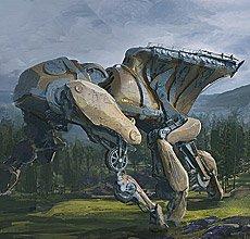 激战画师艺术作品欣赏 未来世界的巨型机器人