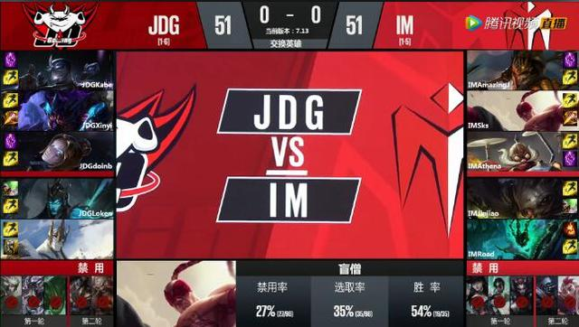 LPL夏季赛7月13日第一场战报:JDG完美团战击败IM