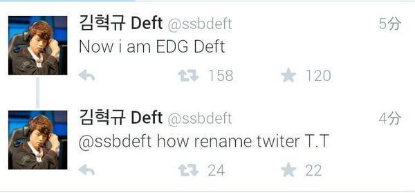 前三星蓝Deft正式加入EDG:因为我喜欢厂长