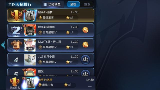 王者荣耀S10赛季第一个王者 国服刺客洛梦一天拿下400人头