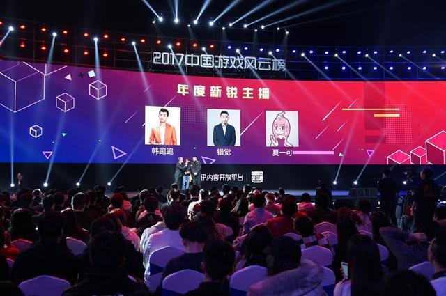 2017中国游戏风云榜:年度新锐主播公布