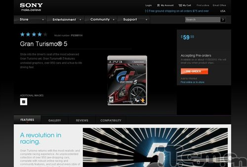 PS3大作《GT赛车5》北美将于11月30日发售