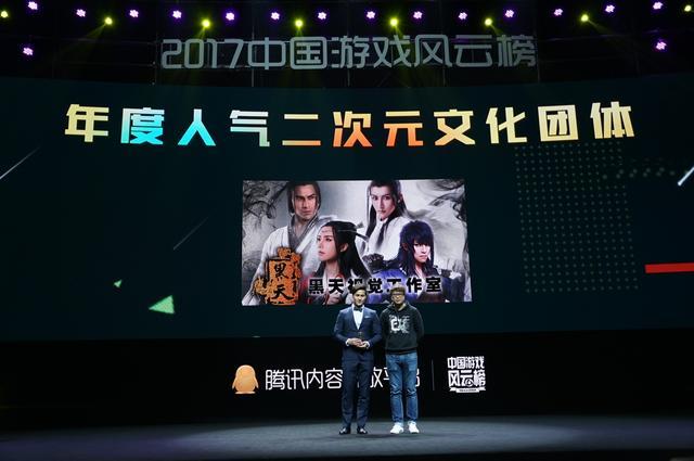 2017中国游戏风云榜:年度人气二次元文化团体公布