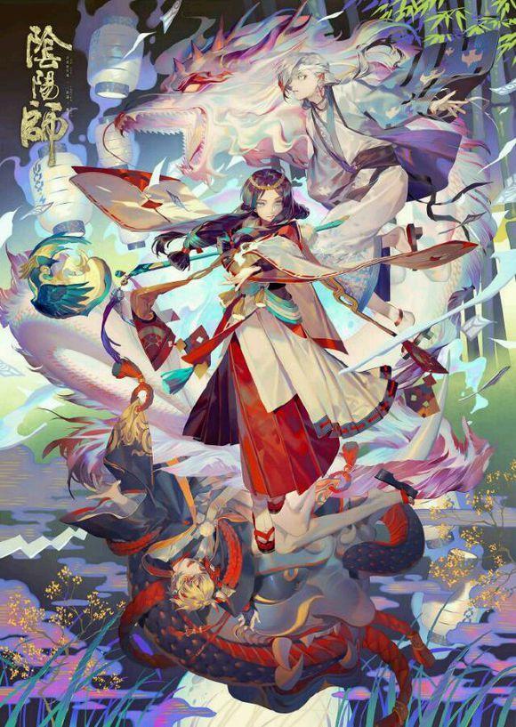 知名画师Rei为阴阳师创作的插画,她同时也是《少女前线》中李?恩菲尔德的画师