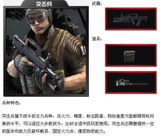 《MKZ-军魂》兵种介绍