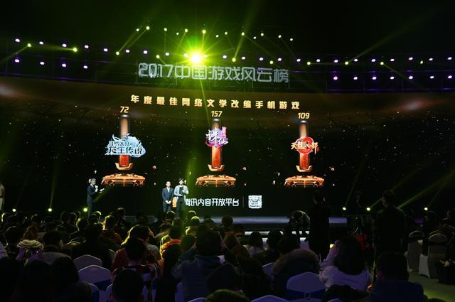 2017中国游戏风云榜:诛仙手游荣获年度最佳网络文学改编手机游戏