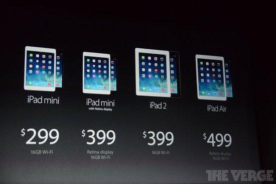 苹果公开iPad Air售价3588元起 游戏性能加强