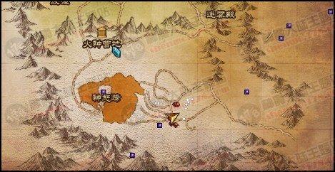 幽暗森林+神怒峰两个藏宝图位置分享