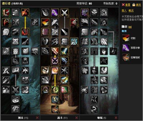 国服《巫妖王之怒》3.22盗贼战斗天赋推荐
