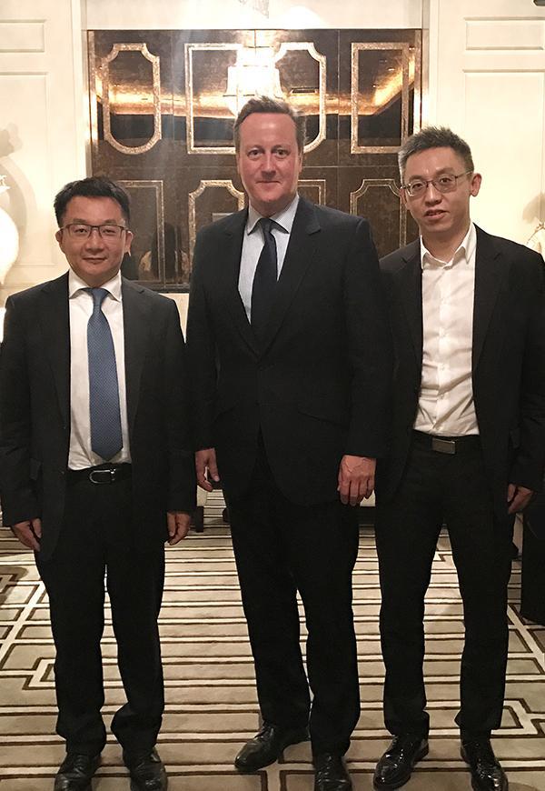 三七互娱获卡梅伦点赞 李逸飞与英国前首相会谈