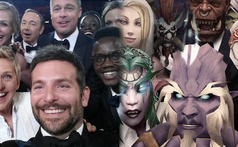 恶搞魔兽奥斯卡自拍合照 诸位英雄闪亮上镜