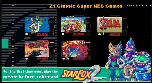 任天堂将于9月底推出迷你版超任游戏机 同捆新作《星际火狐2》