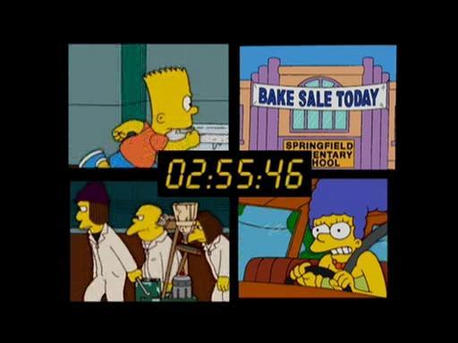 著名长篇动画《辛普森一家》致敬《24小时》的经典分屏