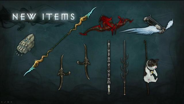 暗黑3未来装备展示:萌猫副手与羽翼弩枪