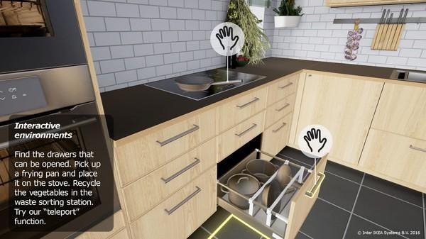 宜家推VR免费应用 在游戏里布置厨房