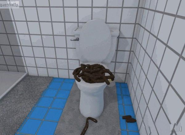 在Bathroom Simulator游戏里,你就可以这样做