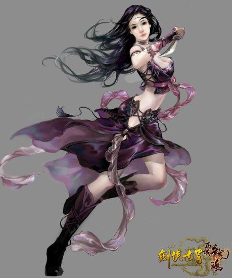 网络游戏美女_网络游戏中美女n种性感造型