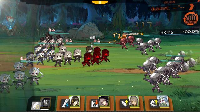 《少女前线》的战斗画面