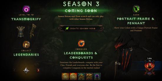 暗黑3第三赛季内容前瞻 独特奖励与全新战勋