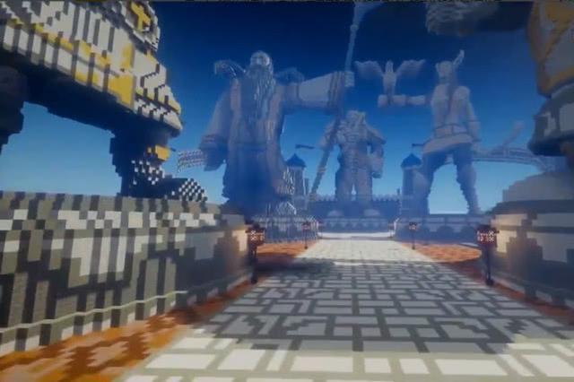 大神玩家在《我的世界》中重现暴风城与奥格瑞玛