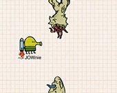 涂鸦跳跃赛跑版评测:涂鸦外壳像素鸟玩法