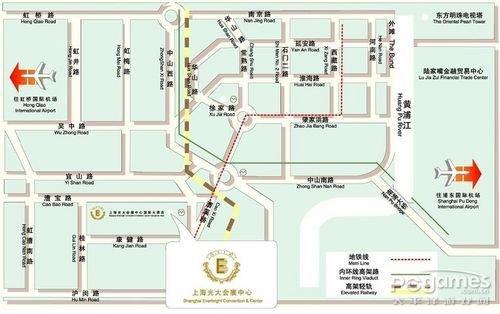WCG2010中国区总决赛现场观战路线