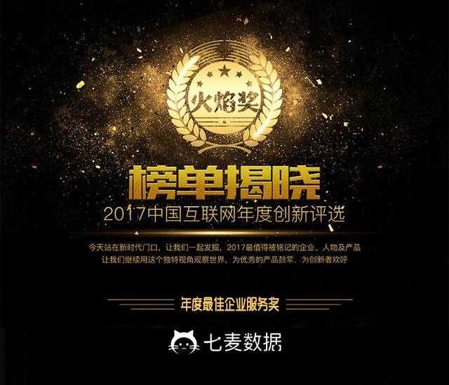 七麦数据获「火焰奖」2017年度最佳企业服务奖