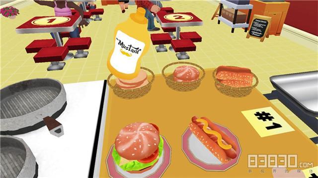 VRonline转载,《烹饪游戏VR》:手速之争 快餐厅抢生意模式